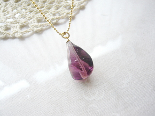 葡萄色のネックレス(ベネチアン硝子)
