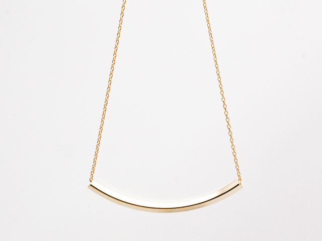 14KGF Curve Necklace