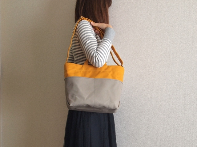 「tebura」 yellow×gray