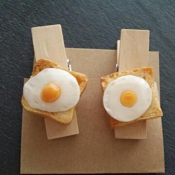 クリップ?2個セット ミニ角食パンの目...