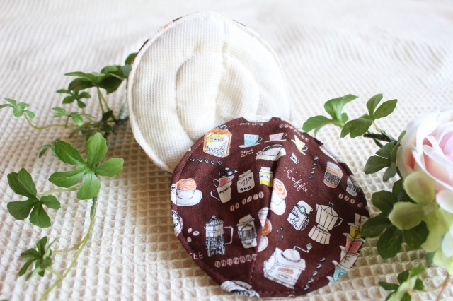 母乳パッド カフェ ワッフル×防水タイプ