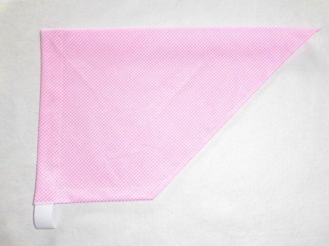 三角巾・後ろゴム/ピンクチェック【san...