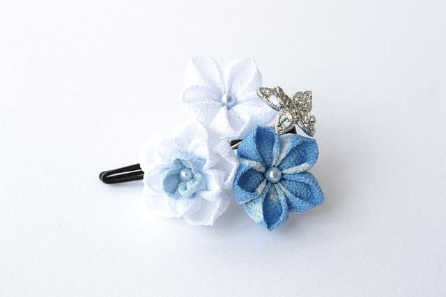 tumami*浴衣に似合うキラキラ蝶のクリ...