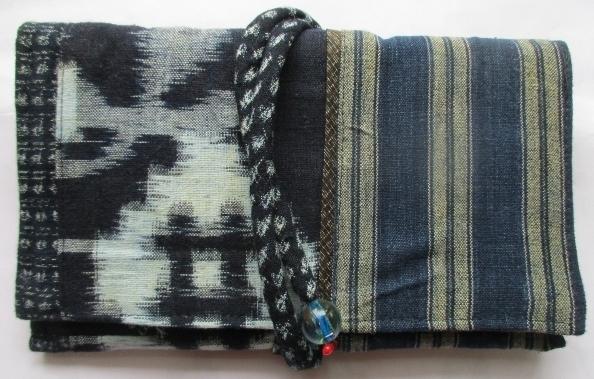 送料無料 絣と唐桟縞の着物で作った和...