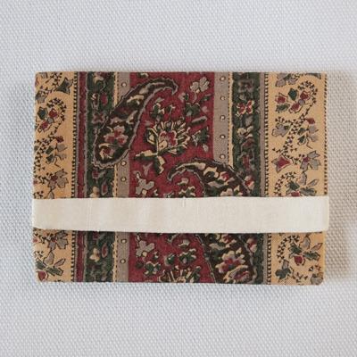 布製カードケース(ペイズリー柄+白)