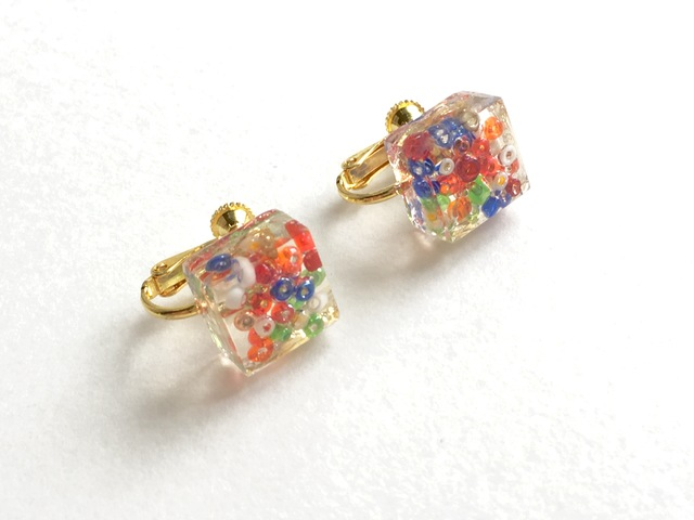 cube pop earrings【送料無料】