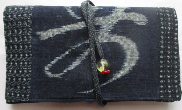 送料無料 絵絣と男絣で作った和風財布...