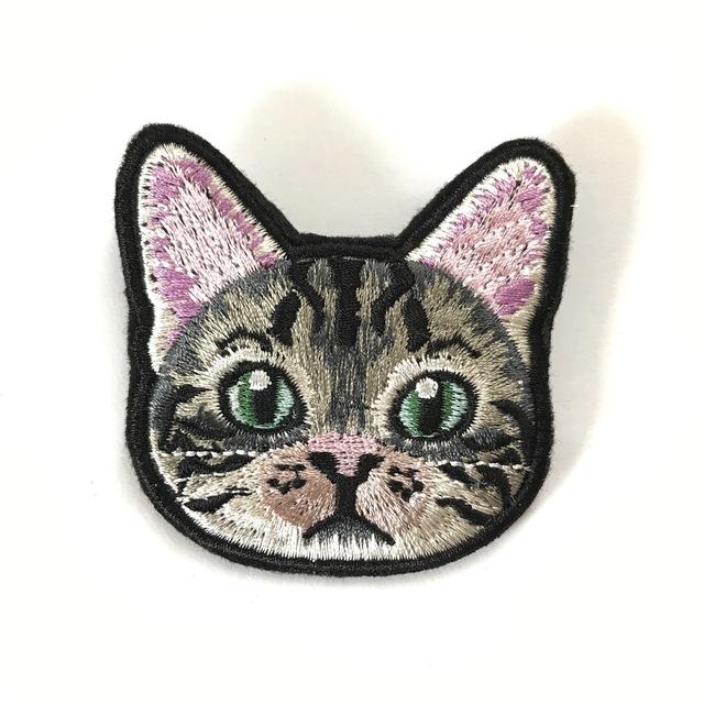 アメショの刺繍ブローチ(受注生産)