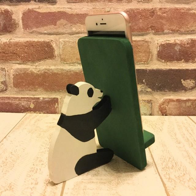 パンダが支える携帯・スマホスタンド