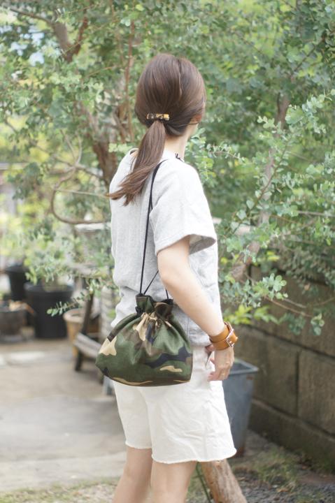★new★巾着ショルダーバッグ(カモフラ)