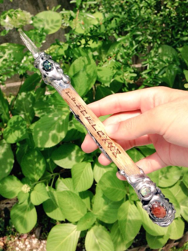 水晶の森の杖【レーザー水晶×サンスト...