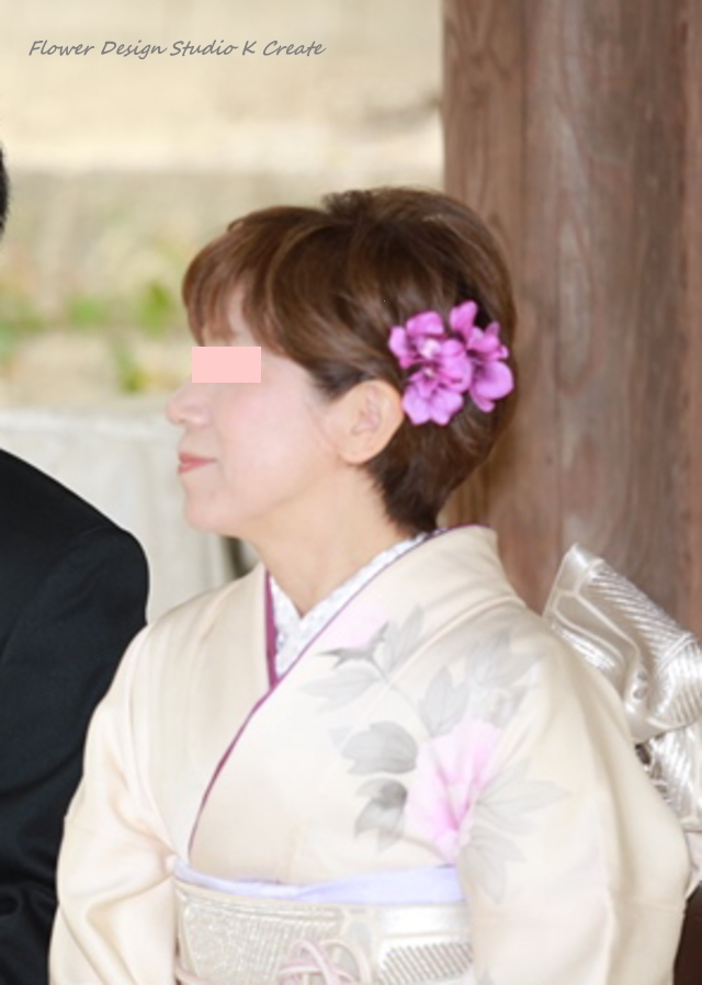 浴衣・七五三・成人式・結婚式に♡紫の蘭のU