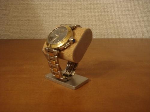 父の日に  コンパクトだ円腕時計スタンド ベルト台座接触バージョン