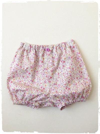 ベビー用カバーパンツ・ブルマ *優しい花柄* ピンク