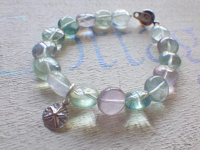 ??再販??fluorite beach bracelet-sand ...