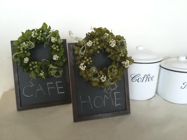 green wreath [ブラックボードアレンジ]
