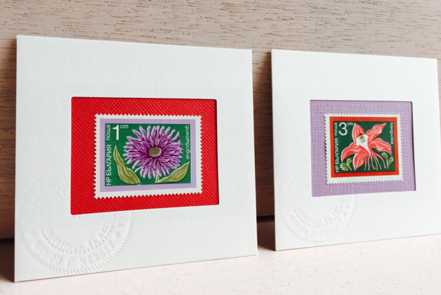 ちいさなartmuseum BULGARIA stamp 2set