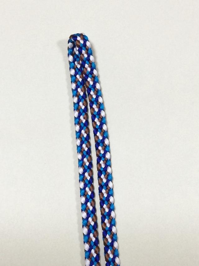 《 受注生産 》 手組み 正絹四分紐 (4色使い )