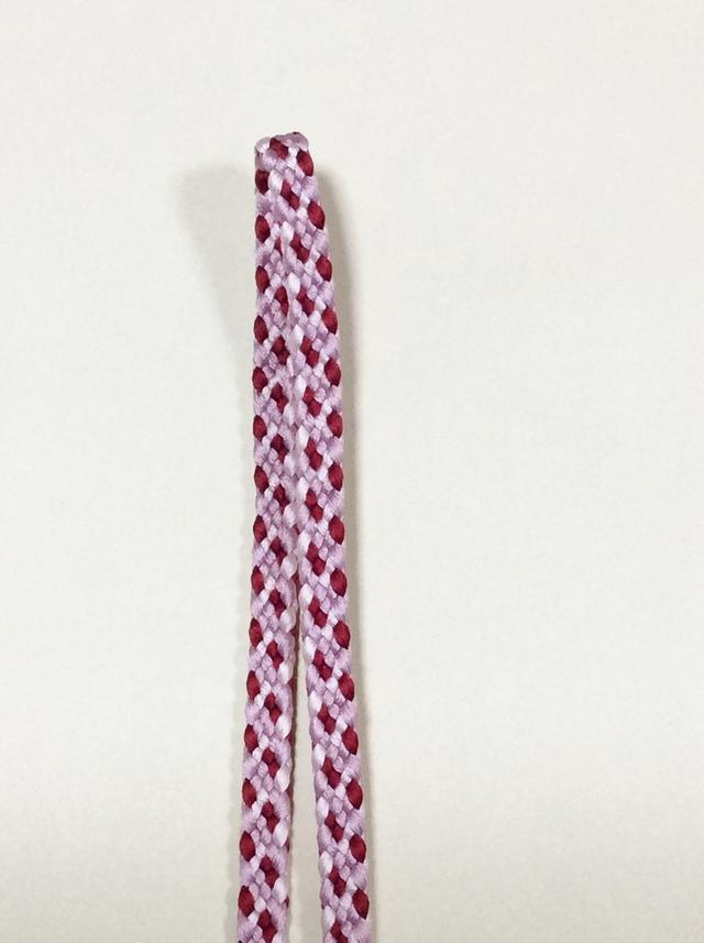 《 受注生産 》 手組み 正絹四分紐 ( 3色使い )