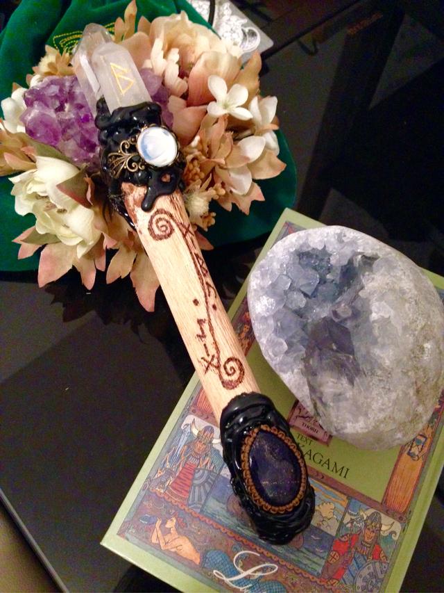 水晶の森の杖【ダブルポイント水晶×ラ...