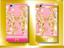 Butterfly Gold?Pinkスマホケース【ハードカバー】