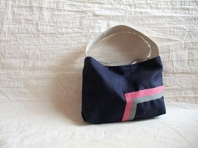 itoiro bag navy (p/g)