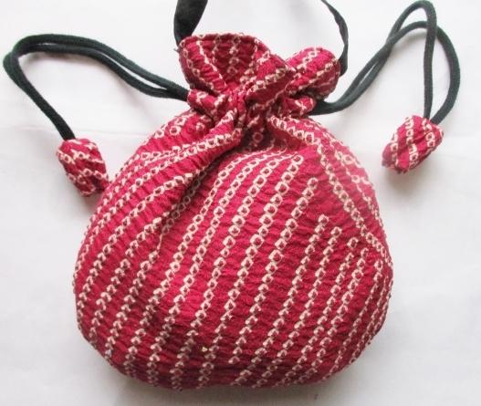 送料無料 絞りの羽織で作ったポシェッ...
