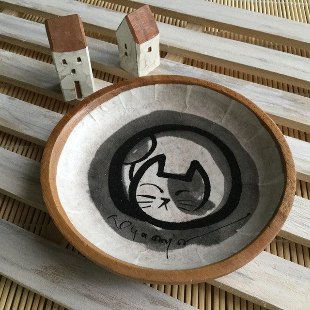 ねこ玉トレー(大)*ブチ柄猫
