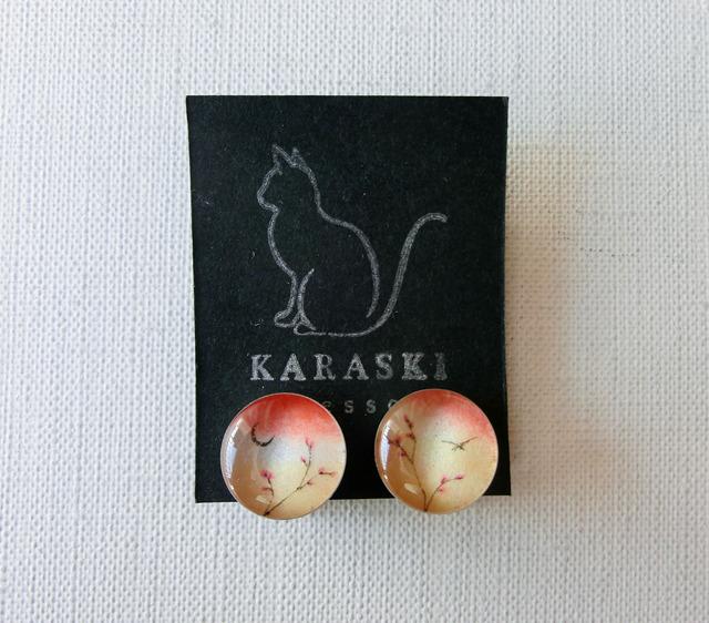 ちいさなイヤリング065/桜と三日月