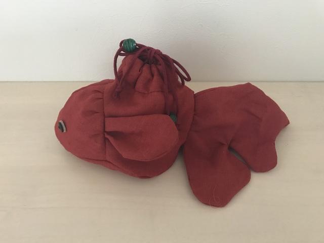 《再発売♪》大きい金魚の巾着(紅)