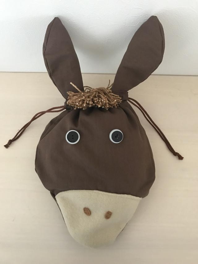 お馬さんの巾着(茶色のたてがみ)