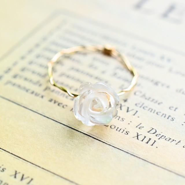 [K14gf] クリスタル 薔薇 ローズ*ゴール...