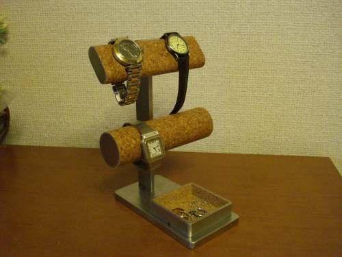 だ円&丸パイプ腕時計スタンド