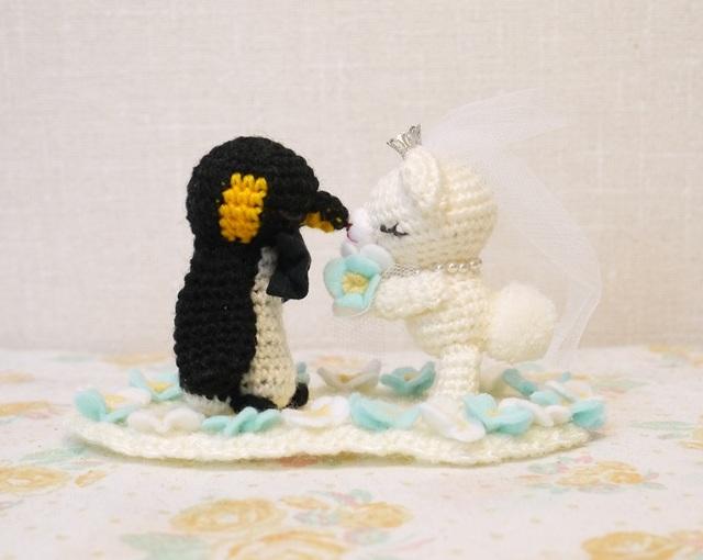 【C様オーダー分】くまさんとペンギンさんのカップル