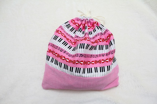 大きい巾着 ピアノ