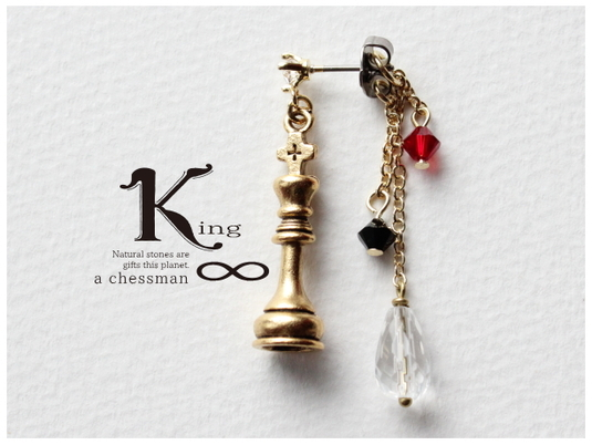 chessman/チェス・キングのピアス