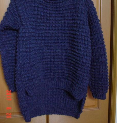 ポコポコ編み模様のプルオーバーシンプ...
