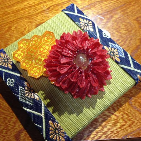 クリスマス 折り紙 折り紙 菊 : minne.com