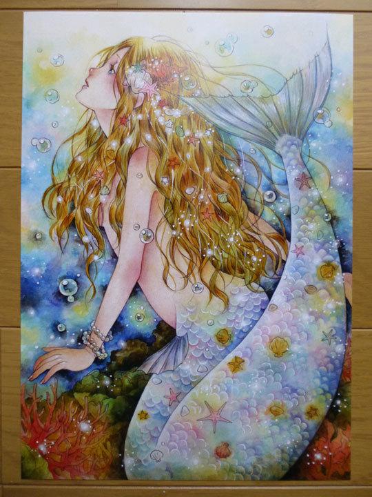 イラストカード 人魚姫 ハンドメイドマーケット Minne