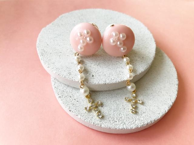 VPP mini pearl × cross ear cuff (NO....