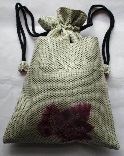 送料無料 着物で作った巾着袋 2680