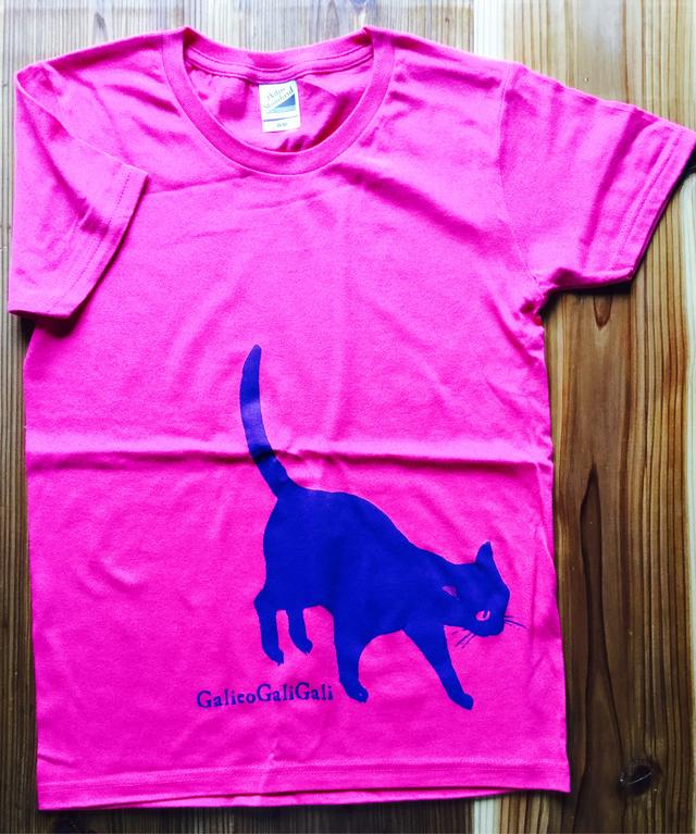 黒猫ガリレオTシャツ