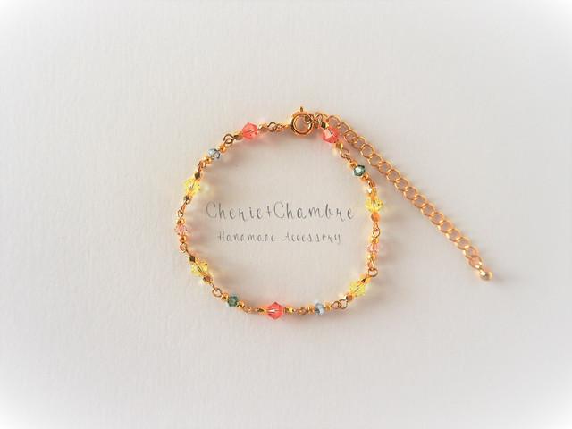 Colorful Swarovski Beads Bracelet