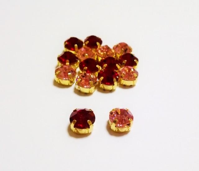 【ピンク系】10mm ビジューストー...