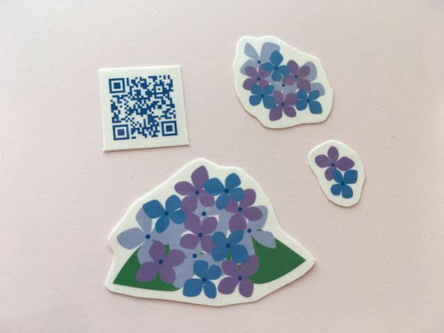 紫陽花のタトゥーシールセット