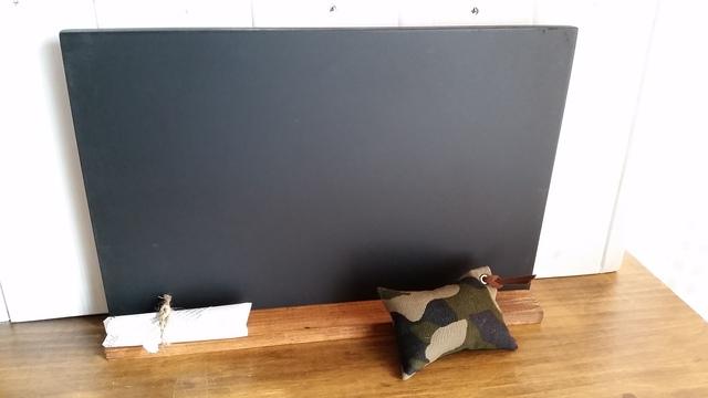 お絵かき黒板セット(黒)カモフラージュ柄黒板消し付