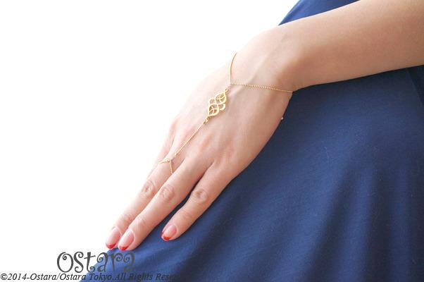 【16KGP】Ring Bracelet, 16KGP Oriental Filigree