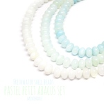 Freshwater shell abacus beads~ 30pcs