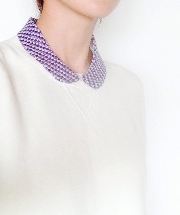 小さめ丸襟の付け襟c