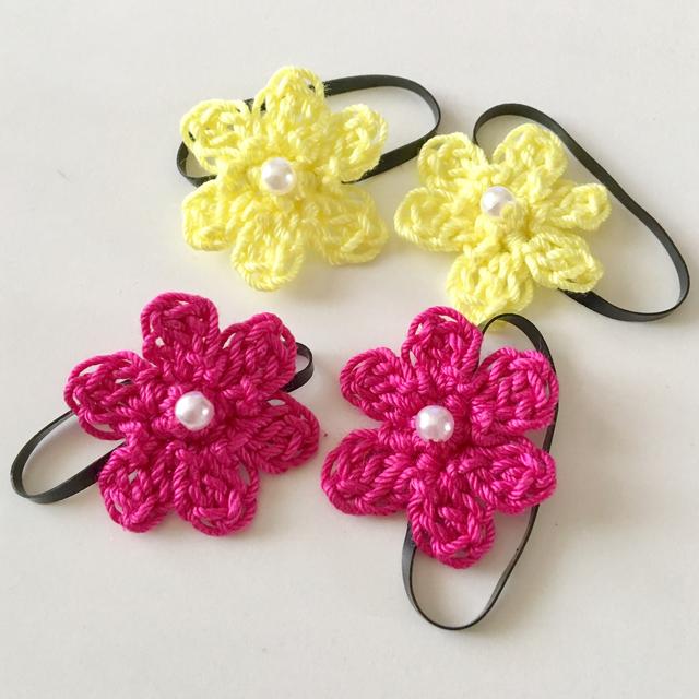 【オーダー品】小さなお花を編んだヘアゴム